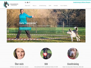 Webseite Champion Coaching - Hundetraining by Melanie Champion